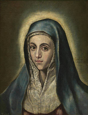 Saint Painting - The Virgin Mary by El Greco