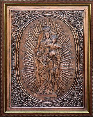 Holly Mother Relief - The Virgin Mary With Jesus Christ by Netka Dimoska