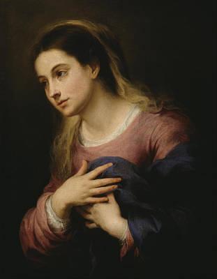 The Virgin Of The Annunciation Print by Esteban Murillo