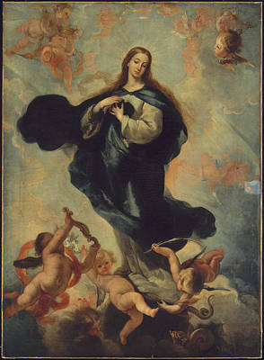 Immaculate Painting - The Virgin Of The Immaculate Conception by MotionAge Designs