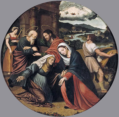 Masip Painting - The Visitation by Vicente Juan Masip