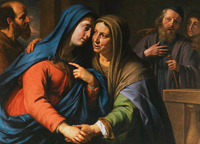 Biblical Scene Painting - The Visitation by Philippe de Champaigne