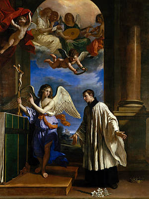 Guercino Painting - The Vocation Of Saint Aloysius Gonzaga by Guercino