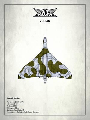 Airplane Photograph - The Vulcan - White by Mark Rogan