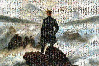 Caspar Digital Art - The Wall Above The Sea Of Fog by Gilberto Viciedo