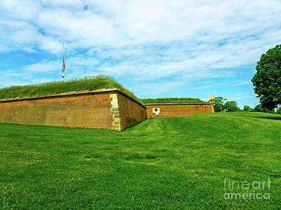 The Walls Of Fort Mchenry Baltimore Maryland Print by William Rogers
