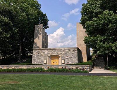 The War Memorial Chapel At Virginia Tech Print by Andrew Webb