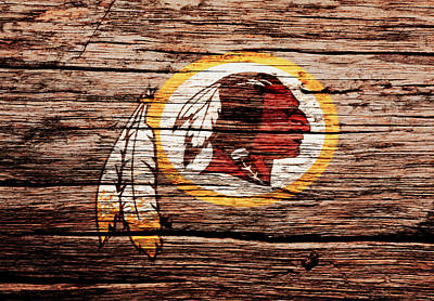 Redskins Mixed Media - The Washington Redskins 1w by Brian Reaves