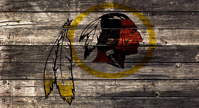 Redskins Mixed Media - The Washington Redskins 2w by Brian Reaves