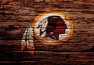 Redskins Mixed Media - The Washington Redskins 3w by Brian Reaves