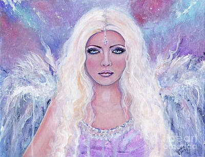 Angel Art Painting - The Watcher by Renee Lavoie