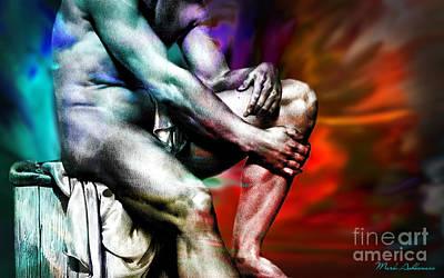 Nude Digital Art - The Watching Man   by Mark Ashkenazi
