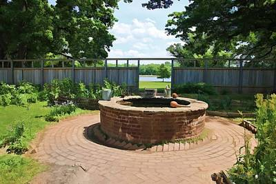 Pennsbury Photograph - The Watering Well Pennsbury Manor  by Valerie Stein