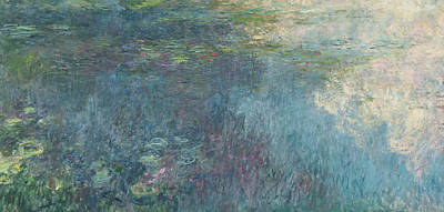 Waterlilies Painting - The Waterlilies  The Clouds by Claude Monet