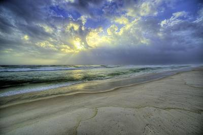 The Waters Of Panama City Beach Print by JC Findley