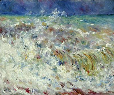 Pierre-auguste Renoir Painting - The Wave by Pierre-Auguste Renoir