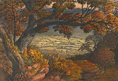 Kent Painting - The Weald Of Kent by Samuel Palmer