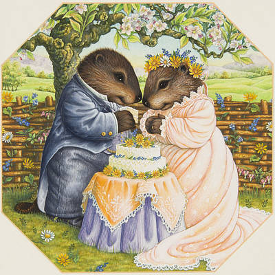 Beaver Painting - The Wedding Cake by Lynn Bywaters