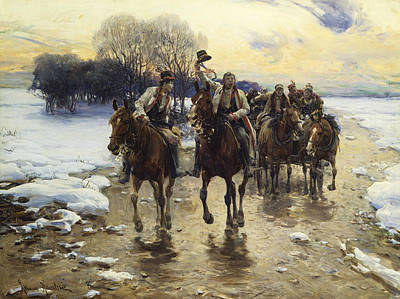 Polish Painters Painting - The Wedding Party by Alfred Kowalski