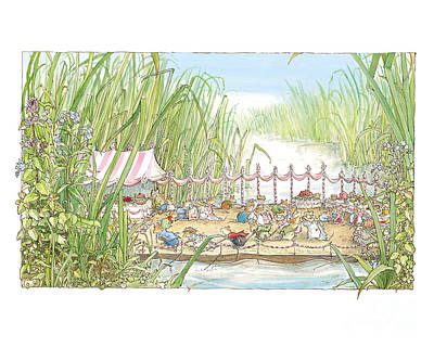 The Wedding Party Print by Brambly Hedge