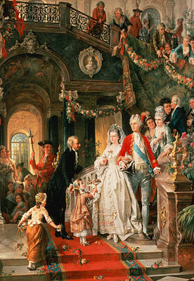The Wedding Party Print by Carl Herpfer