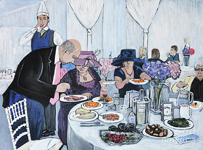 Meal Painting - The Wedding by Reb Frost