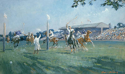 Match Painting - The Westchester Cup by Gilbert Holiday