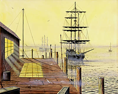 The Wharf Print by Don Griffiths