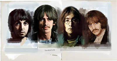 Album Covers Drawing - The White Album  The Beatles  by Iconic Images Art Gallery David Pucciarelli