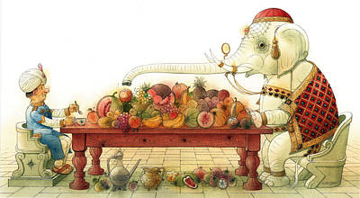 The White Elephant 03 Print by Kestutis Kasparavicius