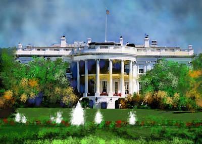 The White House Print by Carol Mallillin-Tsiatsios