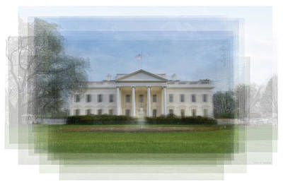 The White House Overlay Print by Steve Socha