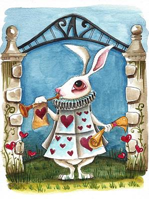 The White Rabbit Announcing Original by Lucia Stewart