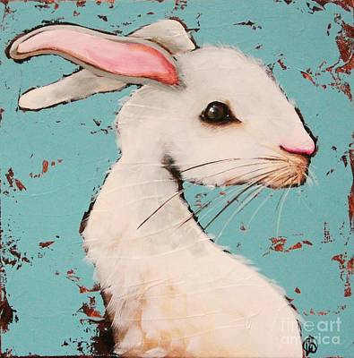 Alice In Wonderland Painting - The White Rabbit by Lucia Stewart