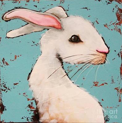 The White Rabbit Print by Lucia Stewart