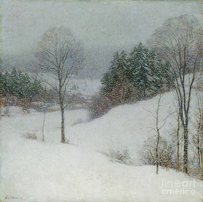 Winter Scenes Photograph - The White Veil by Willard Leroy Metcalf