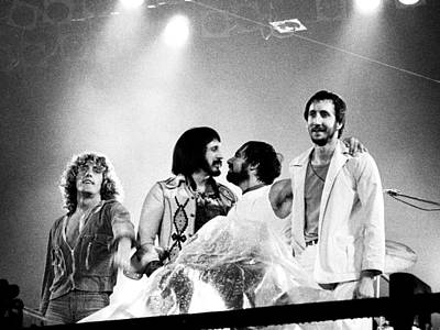 Townshend Photograph - The Who 1976 by Chris Walter
