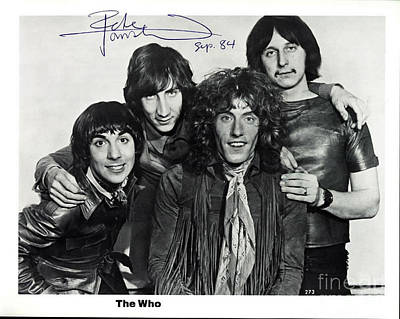 The Who Autographed Photo Original by John Malone