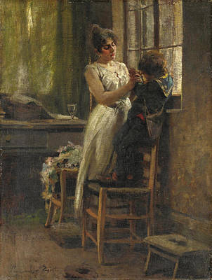 Painting - The Widow by Egisto Lancerotto