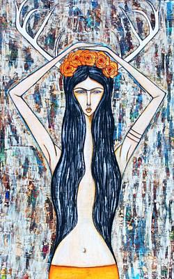 Kahlo Mixed Media - The Wild One by Natalie Briney