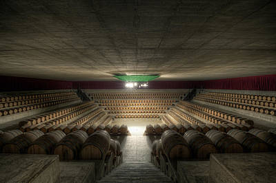 Cellar Photograph - The Wine Temple by Marco Romani