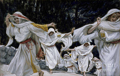 New Testament Painting - The Wise Virgins by Tissot