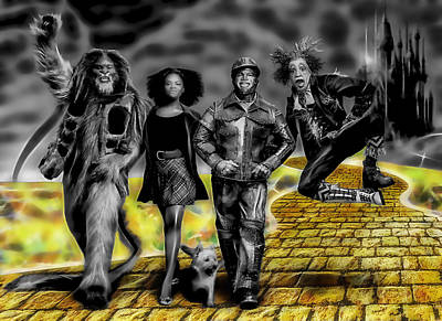 Wiz Mixed Media - The Wiz Collection by Marvin Blaine