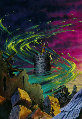 Knights Castle Painting - The Wizard by Richard Hescox