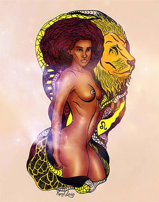 The Woman Leo Print by Kenal Louis