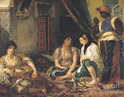 The Women Of Algiers Print by Eugene Delacroix