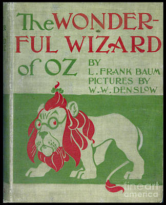 Baum Drawing - The Wonderful Wizard Of Oz First Edition by Vintage