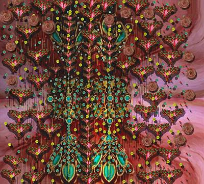 Silks Mixed Media - The Wood Of Paradise by Pepita Selles