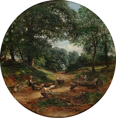 The Woodcutters Print by William Gosling
