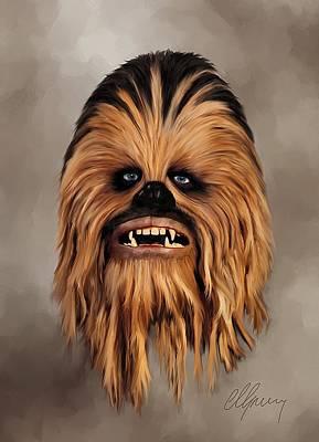 Star Wars Mixed Media - The Wookiee by Michael Greenaway